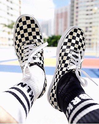 Vans Authentic Golden Coast Checkerboard size 10 limited black white