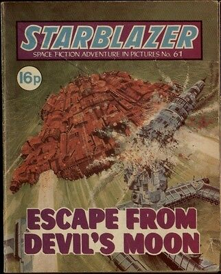 ESCAPE FROM DEVIL'S MO,STARBLAZER SPACE FICTION ADVENTURE IN PICTURES,NO.61,1981