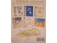 Set of 6 children's books with DVD included