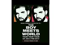 Drake × 2 Standing Tickets - Level 1 O2 Arena Valentines Day 14th Feb