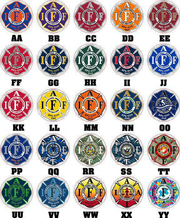 """Two  4"""" IAFF Firefighter Decals Stickers Exterior Mount Please Read Auction"""