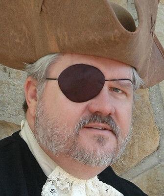 Eye Patch Black Silk Caribbean Pirate Grit Eyepatch 1 or 2 + Optional Earring