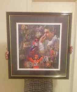 Lacrosse  Autographed  SHAWN EVANS Print& Custom Framed (ART)