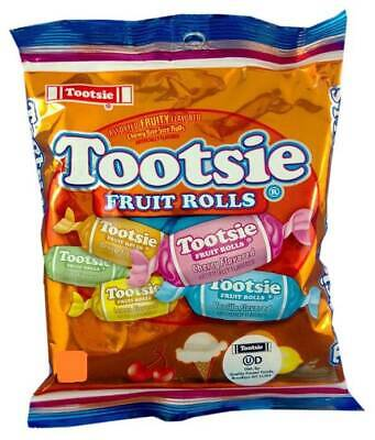 Tootsie Fruit Rolls assorted FRUITY flavored Chewy Bite Size Rolls