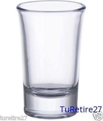 One (1) New, Stylish 1.5 Ounce Clear Dessert Shot Glass - Entertaining 1 1/2 Oz