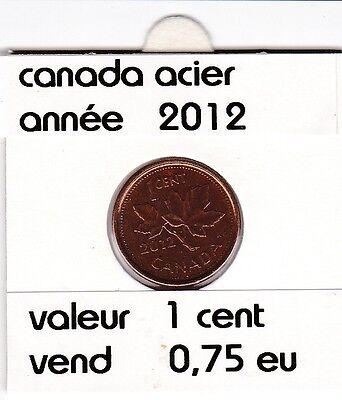 C 1 ) pieces de 1 cent 2012 acier
