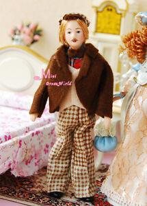 1-12-Dollhouse-Miniature-Doll-Coffee-Jacket-W-Mustache-Artist-GENTLEMEN-PP38