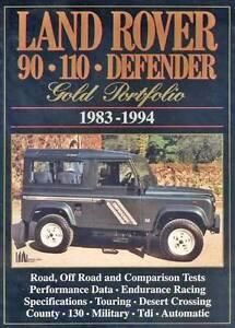 Land Rover 90 110 Defender Gold Portfolio 1983 - 1994 Blacktown Blacktown Area Preview