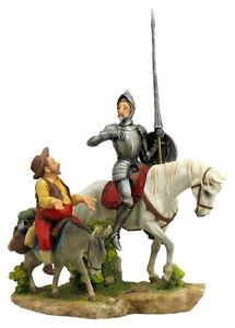 Don Quixote & Sancho Panza Statue Sculpture Figure - WE SHIP WORLDWIDE