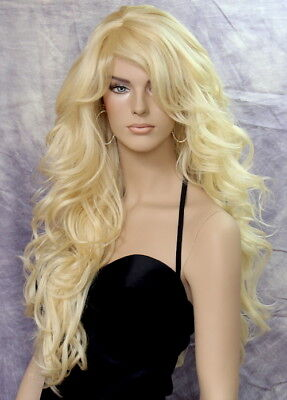 Long Blonde Wig What a Bombshell! Goregeous wavy Heat Safe Pale Blonde WBVA - Blonde Bombshell Wig