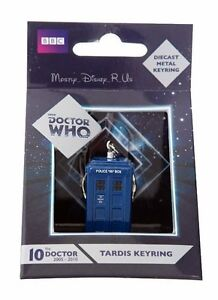 BBC Dr Who Tardis Police Box Diecast Metal Keychain Key Ring C