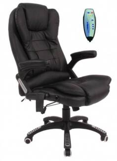 Massage heating Office Chair Recliner Chairs Bonded Leather New
