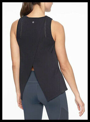 Athleta NWT Women's Foothill Tank Size Large Color Black
