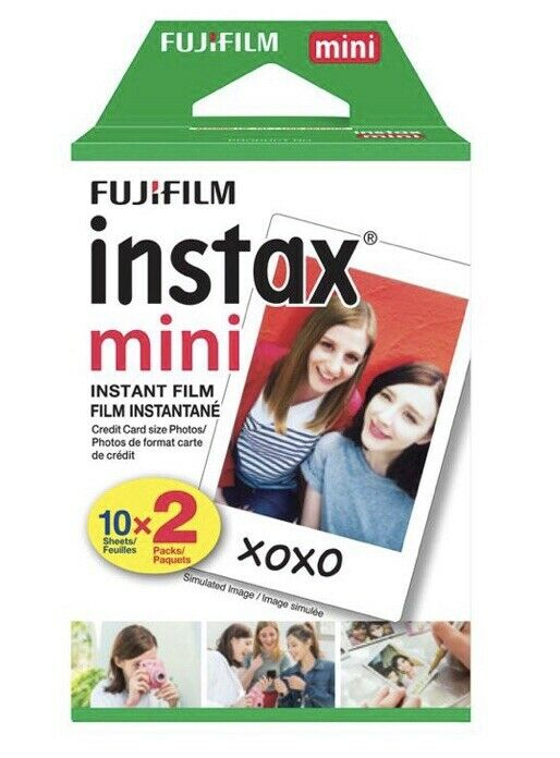 Fujifilm Instax Mini Instant Film Prints Twin Pack 20 Sheets Expired 12/2019