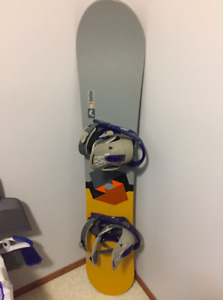Burton Snowboard, Bindings, and Boots with Travel Case