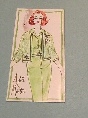 1950's Adele Martin Women's Fashions Brochure Hochschild Kohn Store Baltimore MD