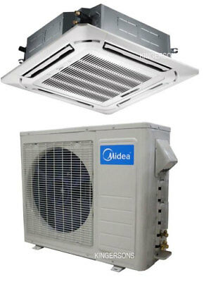 MIDEA CEILING CASSETTE AC 48,000 BTU SEER 16.8 WITH TOSHIBA COMPRESSOR COOL HEAT