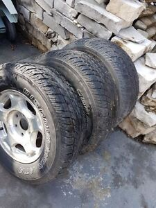 3 Tires With Rims 245/70R/16 Only $150.00