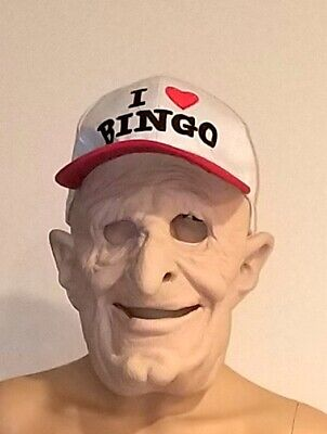 Full Adult Latex Mask - Old Bingo MEN with