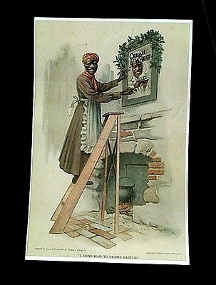 CREAM OF WHEAT ADVERTISEMENT CHRISTMAS 1911 I JUST HAD TO FRAME RASTUS REPRINT