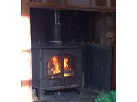 Stovax Stockton 8 kw Slimline Woodburning Stove - Logs - Woodburner - Workshop