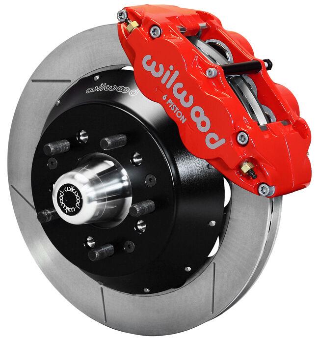 "Wilwood Disc Brake Kit,front,64-74 Gm,14"" Rotors,6 Piston Red Calipers"