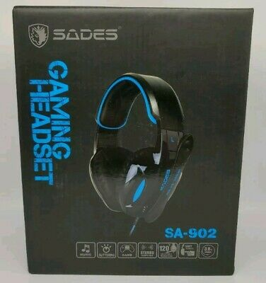 Sades SA-902 7.1 Surround Sound Usb Gaming Headset For PC And Windows New