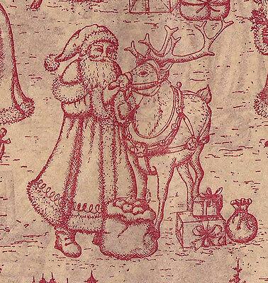 Burgundy Toile on Light Tan ~ Christmas Tissue Paper # 735 ~ 10 Large Sheets ](Christmas Tissue Paper)