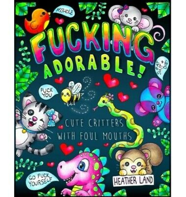 Swear Word Coloring Book Fucking Adorable Stress Relief Cuss Relax Adult Therapy