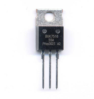 Buk7516-55a N Channel Power Fet Transistor - 55 Vds At 65.7 A Id