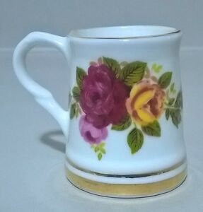 Ashleydale England Fine Bone China Miniature Stein with Roses