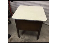 Vintage Sewing Box/Wooden Table