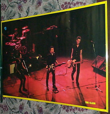 THE CLASH Original 1981 Group Live Poster