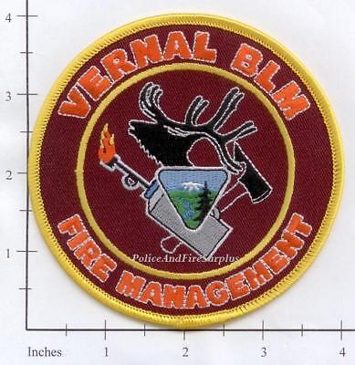 Utah - Vernal Bureau of Land Management Fire Mangement UT Fire Dept Patch