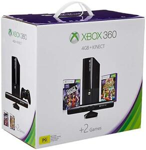 Xbox 360 with Kinect, 2 Guitar's and 16 games