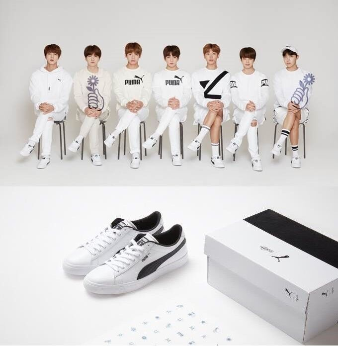 info for 53ed8 7cec1 Puma x BTS Limited Edition Court Star Sneakers Special Photo ...