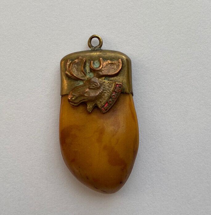 Vintage FRATERNAL LOYAL ORDER of the MOOSE 14K Pendant