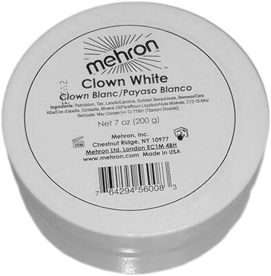 Mehron Clown White Make Up  - Professional Clown Stage Face Body Paint 7 oz.