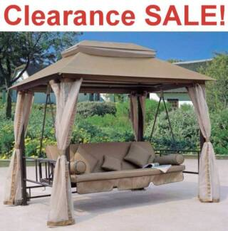 Garden Swing Chair Bed With Fully Covered Gazebo Waterproof SALE