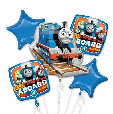 Thomas the Train & Friends 5pc Mylar Foil Balloons Bouquet Party Supply