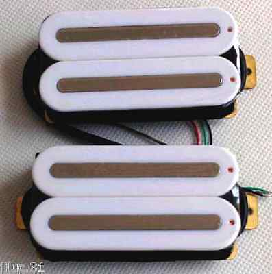 New Set Artec Hot Rails - Humbuckers White Rails Nickel for Guitar