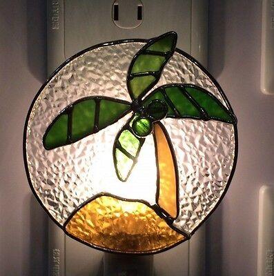 Stained Glass Palm Tree Night Light New (Palm Tree Night Light)