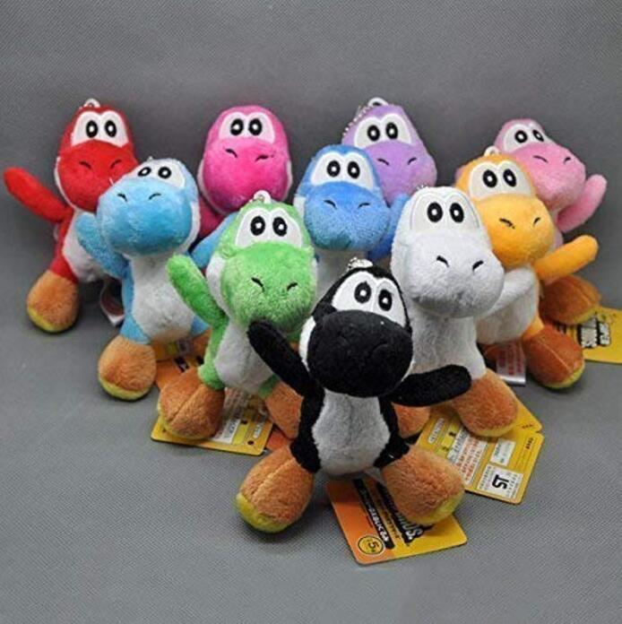 "Super Mario Plush 4.2"" Mini Yoshi 10pcs Set Doll Stuffed Animals Figure Toy"