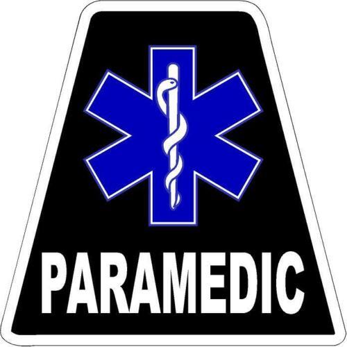 Black Paramedic HELMET TETS TETRAHEDRONS HELMET STICKER  EMT REFLECTIVE