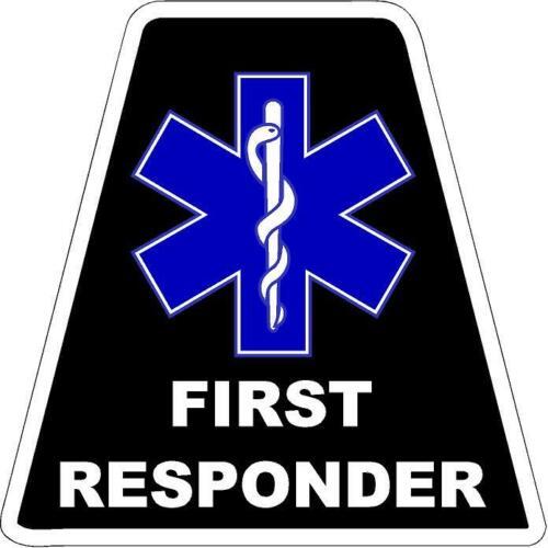 Black FIRST RESPONDER HELMET TETS TETRAHEDRONS HELMET STICKER  EMT REFLECTIVE