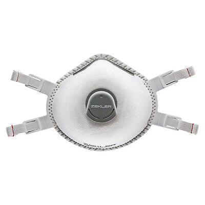 5x Zekler FFP3 Atemschutzmaske mit Ventil 1303V Mundschutz Maske Halbmaske