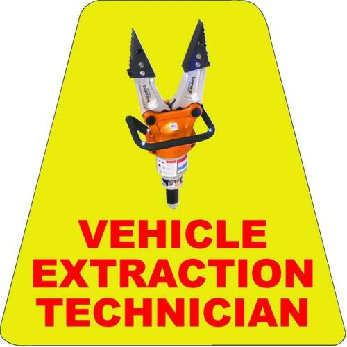 Vehicle Extrication Tech HELMET TETS TETRAHEDRONS HELMET STICKER  EMT REFLECTIVE