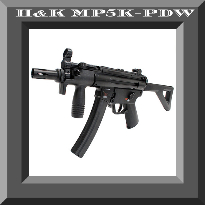 H&K MP5 K-PDW CO2 BB Gun 40-rd Banana Mag Semiauto - 0.177 c