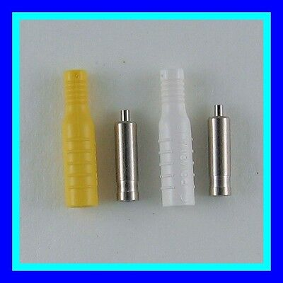 Rare Inline 4mm Banana Jacks Crimp Connect Add More Test Jacks To A Crowded Box