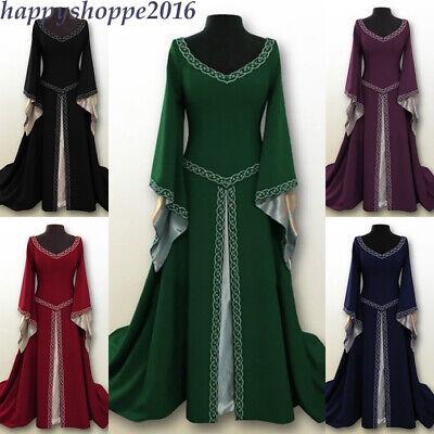 Women Medieval Fancy Cosplay Costume Renaissance Gothic Vintage Princess Dress - Medieval Fancy Dress Women
